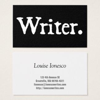 Cartão De Visitas Escritor