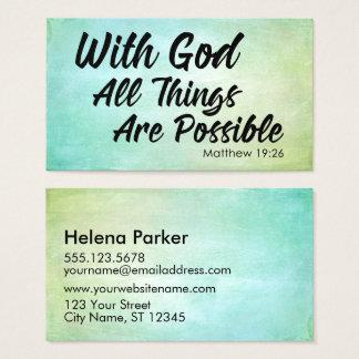 Cartão De Visitas Escritura Pastel do 19:26 de Matthew do Grunge que