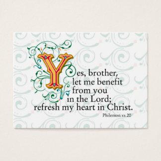 Cartão De Visitas Escrituras da bíblia