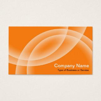 Cartão De Visitas Esferas de sobreposição - laranja