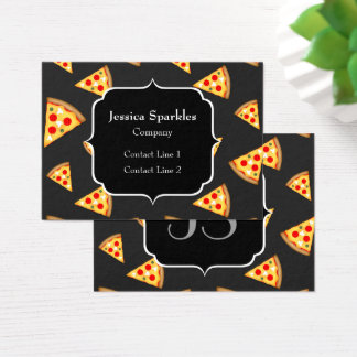 Cartão De Visitas Esfrie e a pizza do divertimento corta o monograma