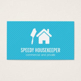 Cartão De Visitas Espanador da casa   (azul)