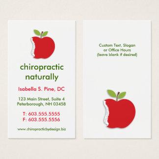 Cartão De Visitas Espinha/cartões de visitas verticais quiroterapia