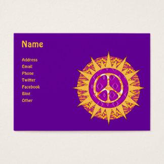 Cartão De Visitas Espiral de Sun da paz