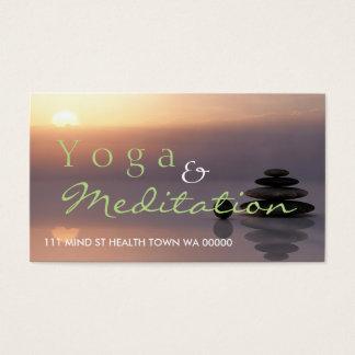 Cartão De Visitas Espírito da saúde do instrutor do equilíbrio da