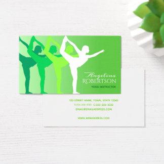 Cartão De Visitas Esporte da saúde do verde da silhueta do corpo do