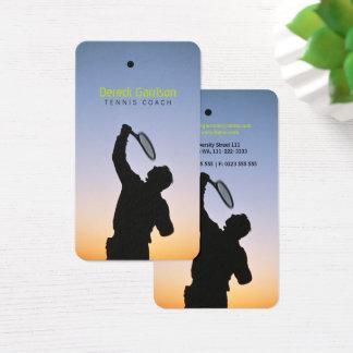 Cartão De Visitas Esporte do treinador de tênis |