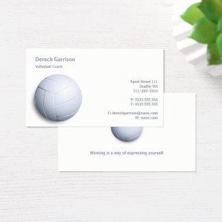 Cartão De Visitas Esporte do treinador | do voleibol