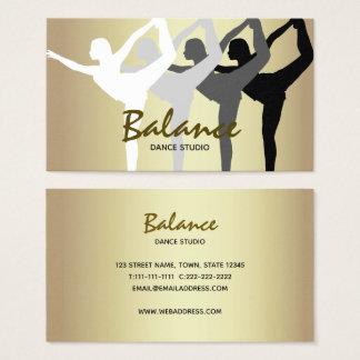 Cartão De Visitas Esporte elegante dourado da silhueta do corpo do