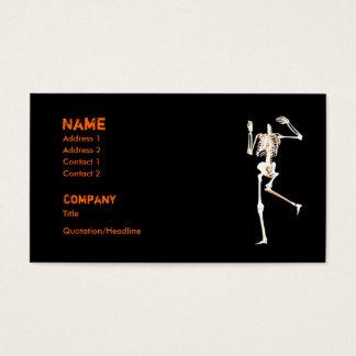 Cartão De Visitas Esqueleto decapitado - negócio