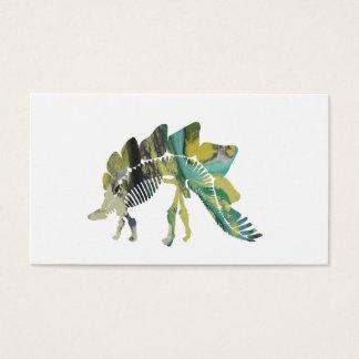 Cartão De Visitas Esqueleto do Stegosaurus