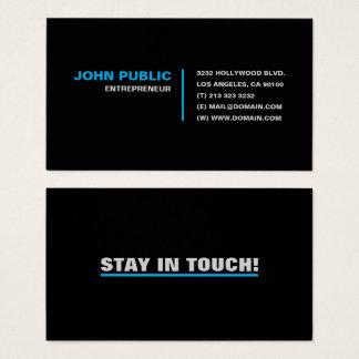 Cartão De Visitas Estada no toque