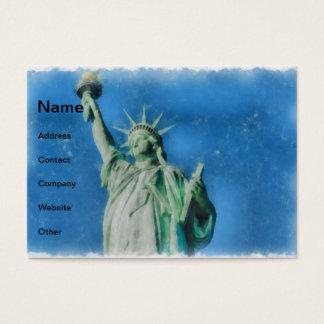 Cartão De Visitas Estátua da liberdade, pintura das aguarelas de New
