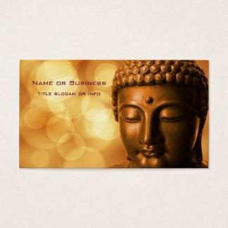 Cartão De Visitas Estátua de bronze de Buddha com fundo dourado de