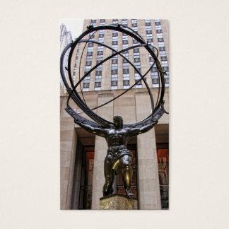 Cartão De Visitas Estátua do atlas, centro de Rockefeller, NYC