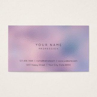 Cartão De Visitas Estilista cor-de-rosa roxo Rippled Vip de Ombre do