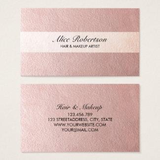 Cartão De Visitas Estilo brilhante cor-de-rosa moderno