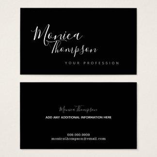 Cartão De Visitas estilo de pia batismal cursive escrito à mão de