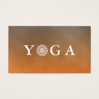 Cartão De Visitas Estilo do vintage do instrutor da ioga