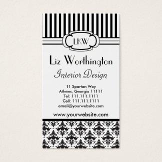Cartão De Visitas Estilo preto e branco retro clássico de Paris