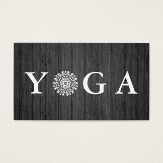 Cartão De Visitas Estilo Wodden do vintage do instrutor da ioga