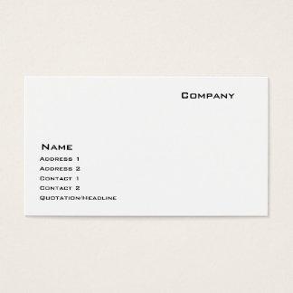Cartão De Visitas Estoque de papel indestrutível
