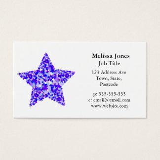 Cartão De Visitas Estrela azul e roxa das estrelas