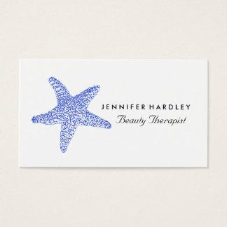 Cartão De Visitas Estrela do mar azul da praia do mar