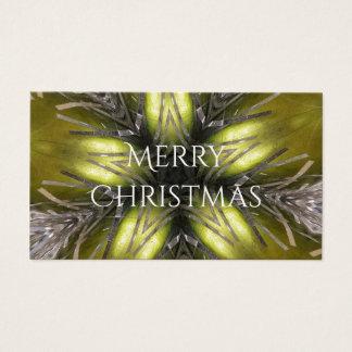 Cartão De Visitas Estrela elegante do Natal do caleidoscópio da