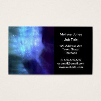 Cartão De Visitas Estrelas azuis no espaço
