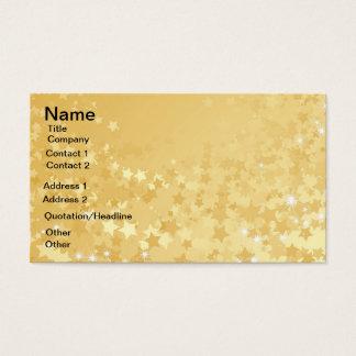 Cartão De Visitas Estrelas bonito do ouro