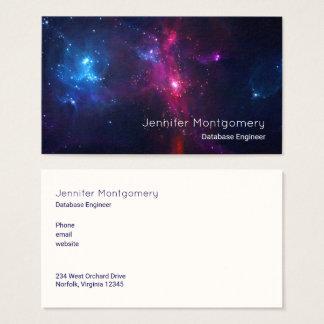 Cartão De Visitas Estrelas cósmicas e nebulosa do espaço modernas