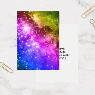 Cartão De Visitas Estrelas do arco-íris