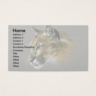 Cartão De Visitas Estudo do puma
