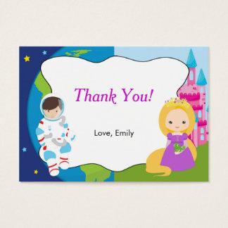 Cartão De Visitas Etiqueta da princesa Miúdo Agradecimento Você Tag