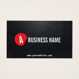 Cartão De Visitas Etiqueta vermelha moderna do metal preto do