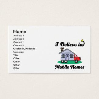 Cartão De Visitas eu acredito em casas móveis