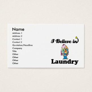 Cartão De Visitas eu acredito na lavanderia