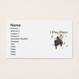 Cartão De Visitas Eu jogo t-shirt e presentes do piano