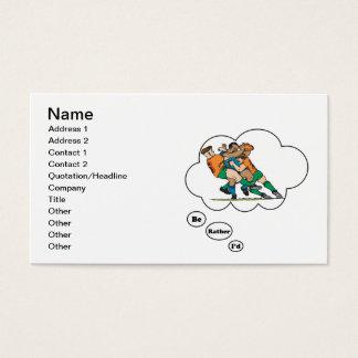 Cartão De Visitas Eu preferencialmente estaria jogando o rugby 2