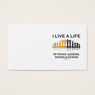 Cartão De Visitas Eu vivo uma vida dos reis, do Queens, dos Rooks &