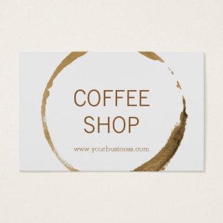 Cartão De Visitas Euro- cafetaria - mancha do café