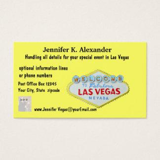 Cartão De Visitas Eventos do planejador do partido de Las Vegas