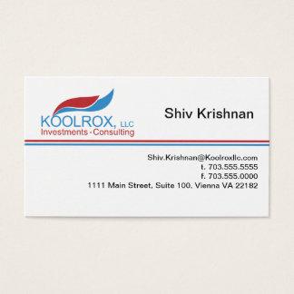 Cartão De Visitas Exclusive de Koolrox - ondas em azul e em vermelho