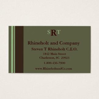 Cartão De Visitas Executivo Monogrammed