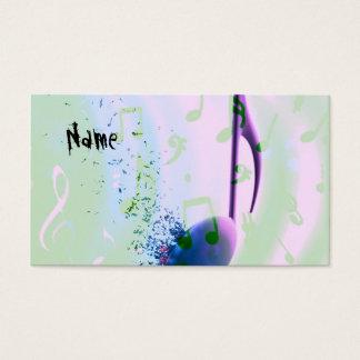 Cartão De Visitas Exposição do profissional da música