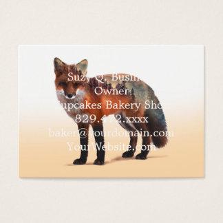 Cartão De Visitas Exposição dobro do Fox - arte da raposa - raposa