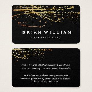 Cartão De Visitas Expressivo artístico do ouro