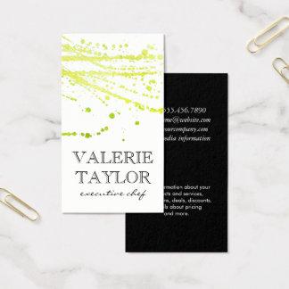 Cartão De Visitas Expressivo artístico verde do encanto