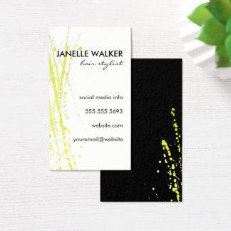 Cartão De Visitas Expressivo verde vibrante da cor de água